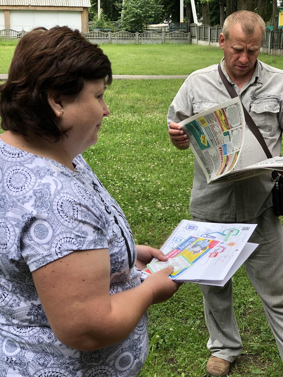Журналисты «Адзінства» пообщались с читателями в Пересадах
