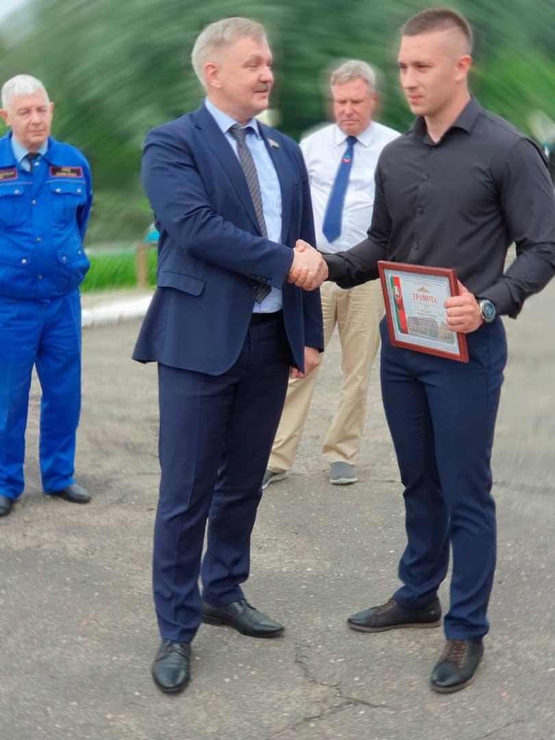 Награжден начальник Борисовской спасательной станции ОСВОД