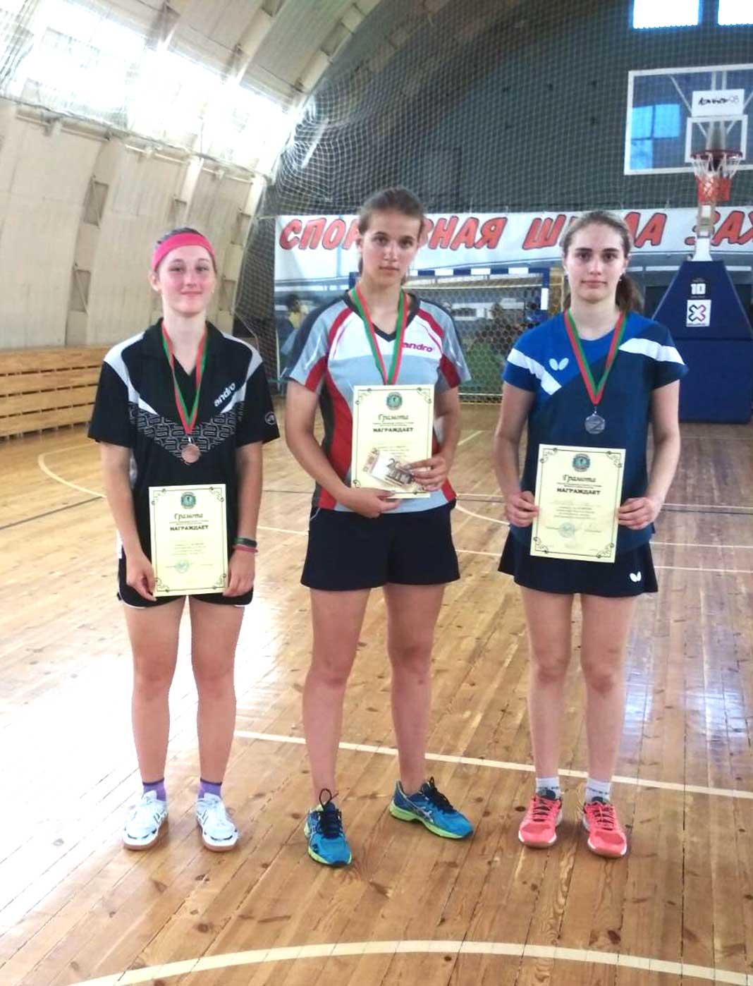Юные борисовчане в числе лучших в областном первенстве по теннису