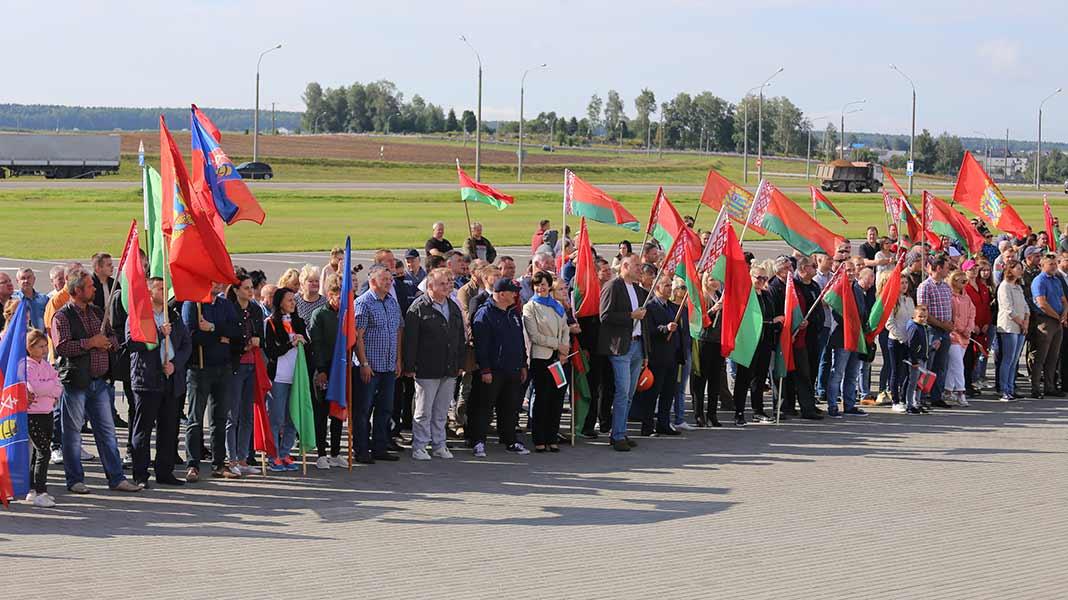 Борисовчане приняли участие в областном автомарафоне «За Беларусь!»