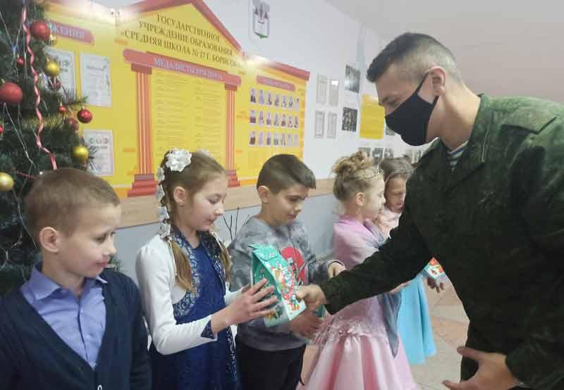Военнослужащие приняли участие в акции «Наши дети»