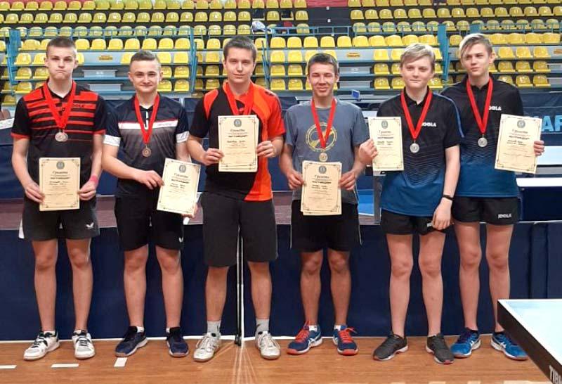 В первенстве Минской области по настольному теннису победили борисовчане