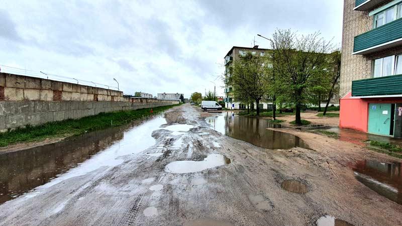 «Мокрый вопрос»: Борисовчане жалуются на большие лужи во дворах и на улицах