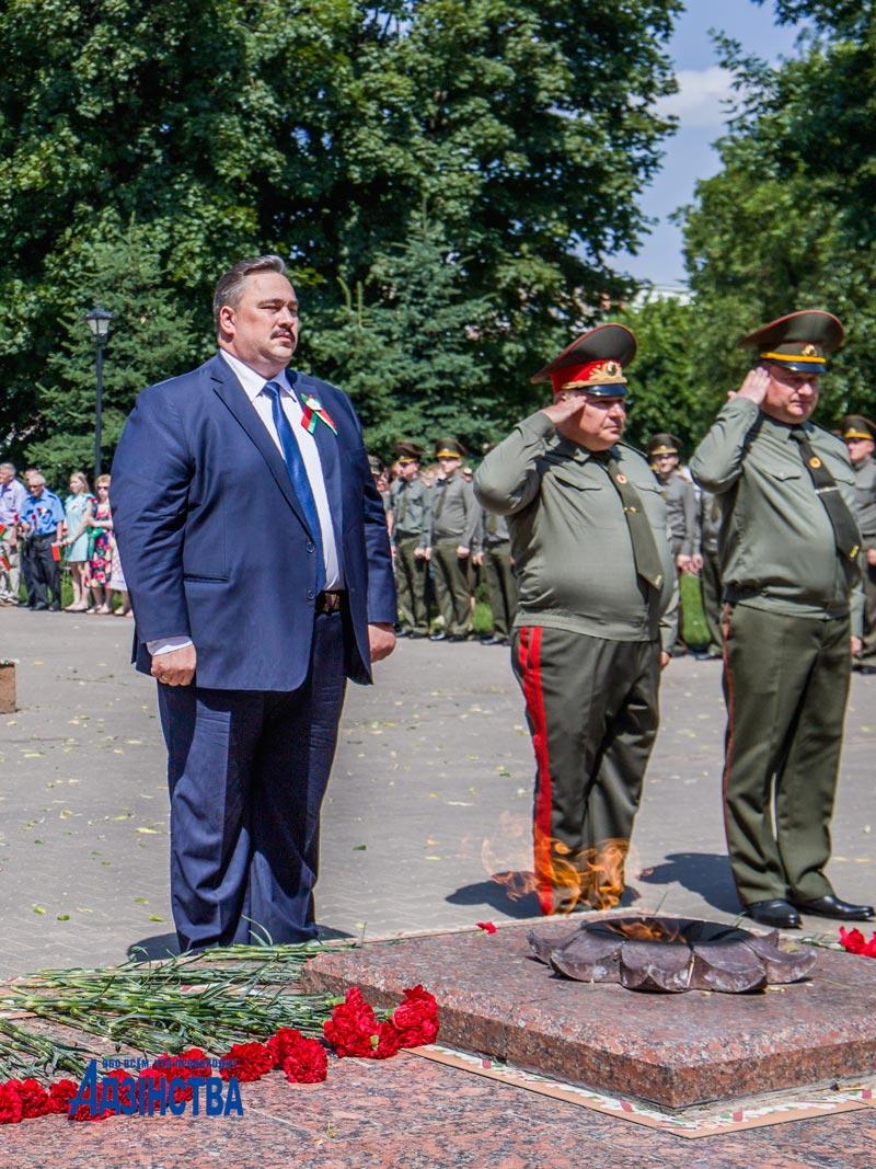 «Мы помним»: борисовчане возложили цветы в память о жертвах Великой Отечественной войны