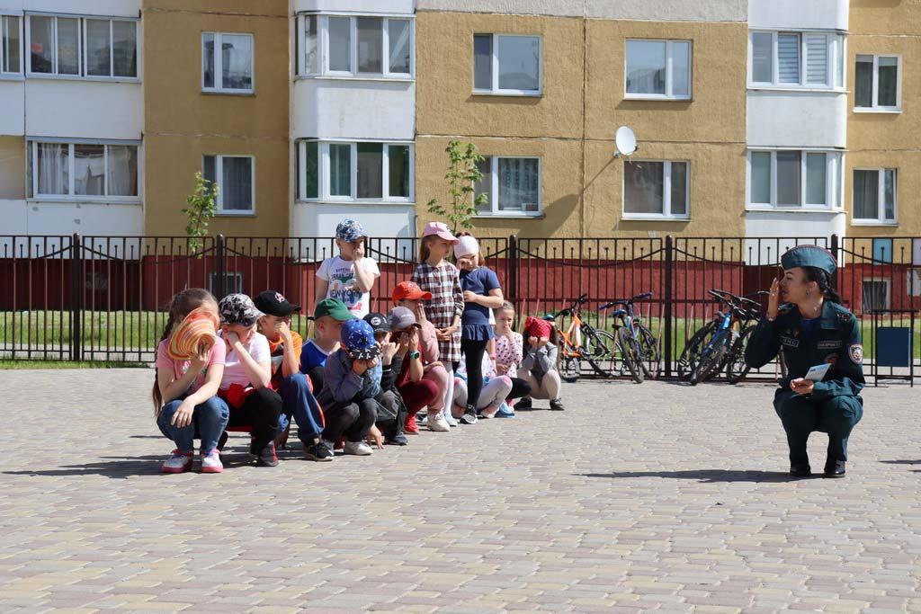 «Безопасное утро» юные борисовчане провели в пришкольном лагере «Мудрые совушки»