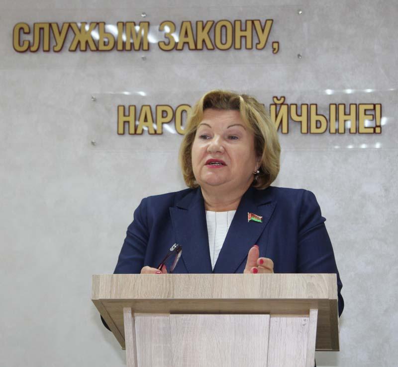 Депутат Палаты представителей Лилия Ананич встретилась с сотрудниками Борисовского РУВД