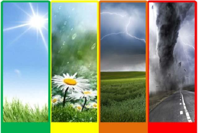 В Беларуси утверждены цветовые коды погодных явлений