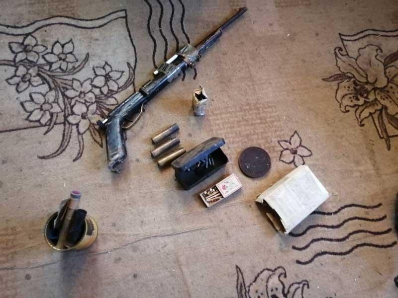 Обрез винтовки и патроны изъяты в Борисовском районе